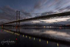 First light at the Forth (hazelhouliston) Tags: firthofforth bridge forthroadbridge forthbridge sea calm sky sunrise scotland reflections structure unesco