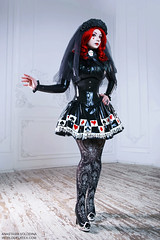 ANASTASIA VOLODINA / BLACK VEIL BRIDE (VioletSpider) Tags: violetspider anastasiavolodina latex latexfashion goth gothiclolita rubber cosplay red hair gothic анастасияволодина латекс