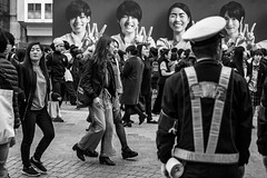 Just Smile And Keep Walking (burnt dirt) Tags: asian japan tokyo shibuya station streetphotography documentary candid portrait fujifilm xt1 bw blackandwhite laugh smile cute sexy latina young girl woman japanese korean thai dress skirt shorts jeans jacket leather pants boots heels stilettos bra stockings tights yogapants leggings couple lovers friends longhair shorthair ponytail cellphone glasses sunglasses blonde brunette redhead tattoo model train bus busstation metro city town downtown sidewalk pretty beautiful selfie fashion pregnant sweater people person costume cosplay boobs