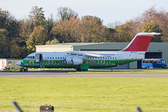 5A-FLF RJ100 Prestwick 30.10.18 (Robert Banks 1) Tags: 5aflf british aerospace rj100 rj1h 146 prestwick egpk pik swiss air libya mabkz e3381