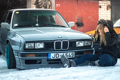 Rocket Bunny pandem pre facelift E30 Latvia (Sandra_Step) Tags: cargirl e30girl nardo gray steelies low e30 bmw pre facelift cross pfl tire lights pandem rocket bunny rb drift car driftgirl latvia daugavpils