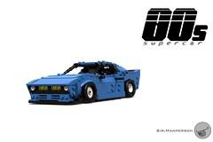 80's Supercar - Miniland scale - Lego (Sir.Manperson) Tags: lego moc 80s retro ldd render miniland