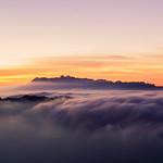 Sunset on a mountain thumbnail