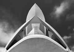 vers l'infini (fred9210) Tags: calatrava architecture futuriste awsome monochrom valencià cité des arts espagna spain city