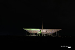 There was something in the air that night... (Κώστας Καϊσίδης) Tags: night farossnfcc snfcccomlex light intheair athens greece hellas outdoor outside kallithea architecture architecturaldetails niarchos snfcc snfccathens kostaskaisidis canon ngc darkness top scenery