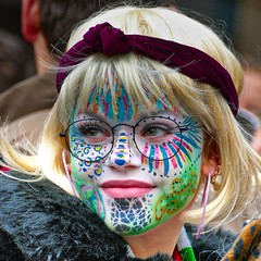 harry girl (Bim Bom) Tags: face portrait woman girl streetlife streetphoto maastricht limburg netherlands facepainting disguise