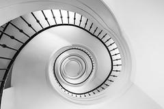 spiral staircase (hjuengst) Tags: treppenhaus treppe wendeltreppe staircase stairs spiralstaircase blackandwhite schwarzweis munich architektur architecture haidhausen