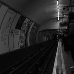 London Holborn tube station in Black and White effect thumbnail