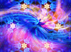 Holiday Abstract (dmeeds (on and off)) Tags: abstract swirl stars blue pink fractal apophysis kaleidoscope