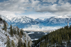 Canmore, Alberta in the distance (Iggythump) Tags: canmore alberta bowvalley spraylakesroad