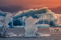 Jökulsárlón Glacier art (Wim van de Meerendonk, loving nature) Tags: jökulsárlón glacier iceland iceberg snow vatnajökullnationalpark blue color colors colours colour clouds cloud icefield ice landscape lake mountain mountainscape nature outdoors outdoor panorama park sony sky scenic telelens wimvandem water rock