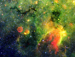 This infrared image from NASA's Spitzer Space Telescope shows what astronomers are referring to as a snake and its surrounding stormy environment. Original from NASA. Digitally enhanced by rawpixel. (Free Public Domain Illustrations by rawpixel) Tags: otherkeywords tags tagcc0 astrology astronomical astronomy astrophotography cc0 celestial constellationsagittarius cosmology cosmos developingstars galactic galacticsnake galaxy green hubble infrared infraredarraycamera milkywaygalaxy name nasa outerspace pdnasa publicdomain red redball sagittarius snake snakelike space spitzerspacetelescope stars stellar supernovaremnant yellow