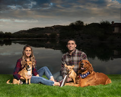 "850_4216 Gina, Nick and the ""kids"" (greyhound rick) Tags: groupphoto peopleanddogs outside lake arizona phoenix ahwatukee strobist flashphotography photoshop nikcollection nikon nikkor alienbees sb800 paulcbuff lateafternoon pocketwizard couple"