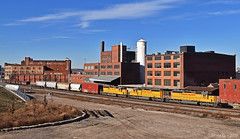 Eastbound Transfer in Kansas City, MO (Grant G.) Tags: up union pacific railroad railway locomotive train trains east eastbound transfer yard job emd power kansas city missouri