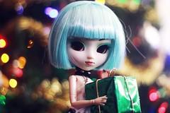 merry christmas! (hauntiing) Tags: pullip pullips doll dolls toy toys pullipprunella prunella dollphotography toyphotography bokeh christmas