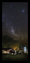 148 of 365 - Wide aperture (Weils Piuk) Tags: photoblog365 composite sky night stars via lactea restaurant mosqueta building structure vertical astronomy dark trees