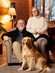 (ScottSmith.Photos) Tags: popular tags warm people cabin interior indoor pet dog couple manitoba goldenretreiver familyphotography familyportrait familyphoto petphotography petphoto