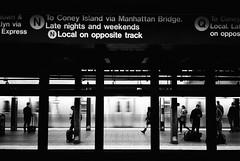 subway scene (ekonon) Tags: 1 monochrome transit underground subway gothamist olympusxa2 pushedonestop blackandwhite film filmphotography