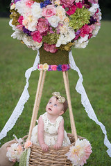 Up, Up & Away (Funtasian) Tags: floral flowers balloon children baby portrait field pink nikon sigma tamron wonder