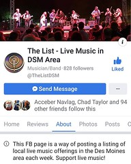 If you live in Des Moines, and are on Facebook, and love local live music, then you should absolutely be following this page! (iowamusicshowcase) Tags: ifttt instagram iowa music bands artists midwest the