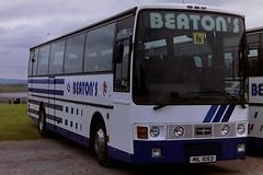 BEATON'S, BLANTYRE MIL1053 E649KCX (bobbyblack51) Tags: beatons blantyre mil1053 e649kcx daf mb230 vanhool alizee happy days woodseaves irvine 1996