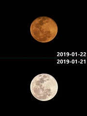 Contrasting Moons (Thomas Cheung Bus Photography) Tags: sony fe 470200 g oss moon astrophotography sky a6500 ilcea6500