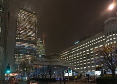 Canary Wharf (Rambo2100) Tags: canarywharf hsbc jpmorgan citi london sheridan rambo2100 2018 night light england uk skyscraper city building architecture people 10cabotsquare credit suisse morgan stanley boisdale onecanarywharf