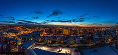 Reykjavik Iceland (Einar Schioth) Tags: evening sun sunset cityscape citylights canon clouds cloud church blusky reykjavik photo picture outdoor iceland ísland ice einarschioth