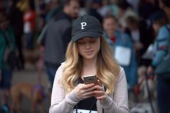 Sweet  P (Scott 97006) Tags: woman female lady blonde pretty cute phone cap p