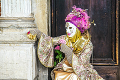 lady pink rose (werner boehm *) Tags: wernerboehm carnivalofvenice pink maske person character