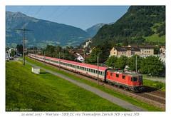 "Re 4/4"" SBB CFF - Wartau (CC72080) Tags: re44 re420 cff sbb ffs transalpin ec eurocity locomotive lokomotive zug train öbb wartau"