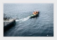 Tension (Stuart Leche) Tags: bay floatingplatform harbour maritime sea tugboat