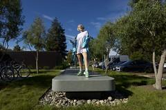 2018 09 - Anja Kotar - intervju Avtomobilnost TV Slovenija - Cupertino Apple visitor center - foto Miha Merljak (miha.merljak) Tags: california singer songwriter cupertino unitedstatesofamerica usa