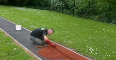 Maintenance of Long Jump Runway in Glasgow City #Long #Jump... (Long Jump Runway) Tags: