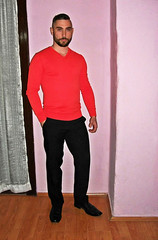 Spartacus (203) (@the.damned.spartacus) Tags: male muscle hunk big chest hairy gym bulge suited daddy man suits suite loafers shoes shirt fetish beard bear style