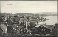 Postkort fra Agder (Avtrykket) Tags: biodden barn bolighus brygge bygård båt hus postkort grimstad austagder norway nor