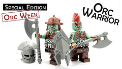 Orc Warrior (BrickWarriors - Ryan) Tags: brickwarriors custom lego minifigure orc weapons helmet armor goblin axe shield fantasy roleplaying game monster castle medieval