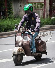 (seua_yai) Tags: asia southeastasia thailand bangkok people street candid vespa piaggio scooter bangkok2012