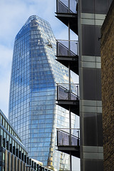 Imagine Seeing This From The Balcony (Geoff France) Tags: architecture shapes building highrise officeblock glass balcony flat apartments city london