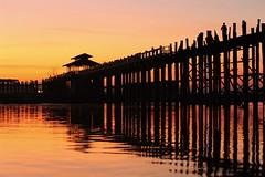 U Bein Bridge Sunrise - Amarapura, Myanmar (JR Marquina) Tags: lake sunrise explore architecture landmark burma southeastasia myanmar ubeinbridge ngc