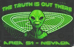 25 Gbnaabennett (Rocky's Postcards) Tags: area51 alien greys ufo groomlake nevada truthisoutthere space postcard green gbnaabennett