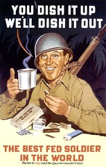 US ARMY POSTER (DREADNOUGHT2003) Tags: poster propaganda oldfashion politics military war wwii worldwarii history advertisement colorimage frontview support eating helmet cup holding cheerful smiling army communication soldier onemanonly men adult lookingatcamera portrait headandshoulders people oneperson text westernscript past vertical food drinking uniform nostalgia illustrationtechnique digitalcomposite vector usarmy digitalenhancement wareffort formofcommunication usarmedforces illustration retro