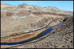 UP 8903 (golden_state_rails) Tags: up union pacific wp western sp espee southern palisade canyon nv nevada overland route emd grain train sd70ah sd70m