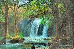 WATERFALL. In the Style of Seurat. (Pointillism) (Viktor Manuel 990.) Tags: waterfall cascada georgesseurat pointillism puntillismo digitalart artedigital querétaro méxico victormanuelgómezg