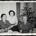 Archiv H774 Weihnachtsfoto am Christbaum, 1950er thumbnail