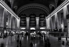 Grand Central (Dan Fleury Photos) Tags: architecture bigapple nystate ny usa blackandwhite white black bow midtown manhattan hub transportation trains station newyork nyc