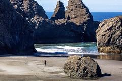 Oregon Coast Solitude (amarilloladi) Tags: beach tide rock seastacks seascapephotography seascapes sea pacificnorthwest pacific pacificocean ocean coastline oregoncoast oregon