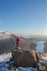 Taking In the View (Mick Hunt Photography) Tags: sleeve doan mourne mountain mountains northernireland county down ireland winter sunset sellfie canon 5d mkiii 2470 silent valley reservoir tor red jacket