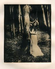 Maiden Of The Forest (micalngelo) Tags: analog aeroektarlens speedgraphiccamera alternativephotography alternativeprocess chinecolleprint intaglio printmaking solarplategravure photogravure photoetching portrait