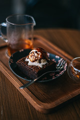 @ Chaseki (momentsb4autumn) Tags: tea chiang mai thailand delish food delicious love eats foodporn brownie matcha wood oolong